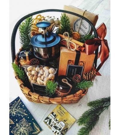 Подарочная корзина Новогоднее лукошко