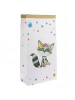 """Эко-мешок для игрушек из крафт бумаги """"Лисенок и мишка"""""""