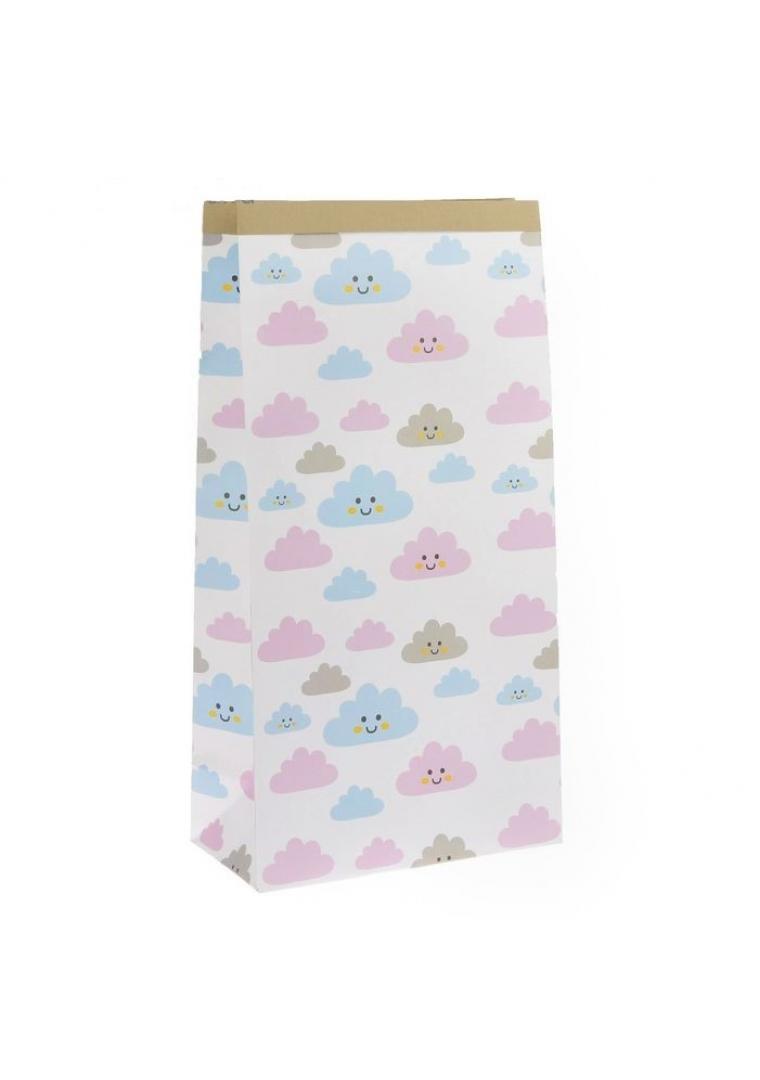 """Эко-мешок для игрушек из крафт бумаги """"Облачка"""""""