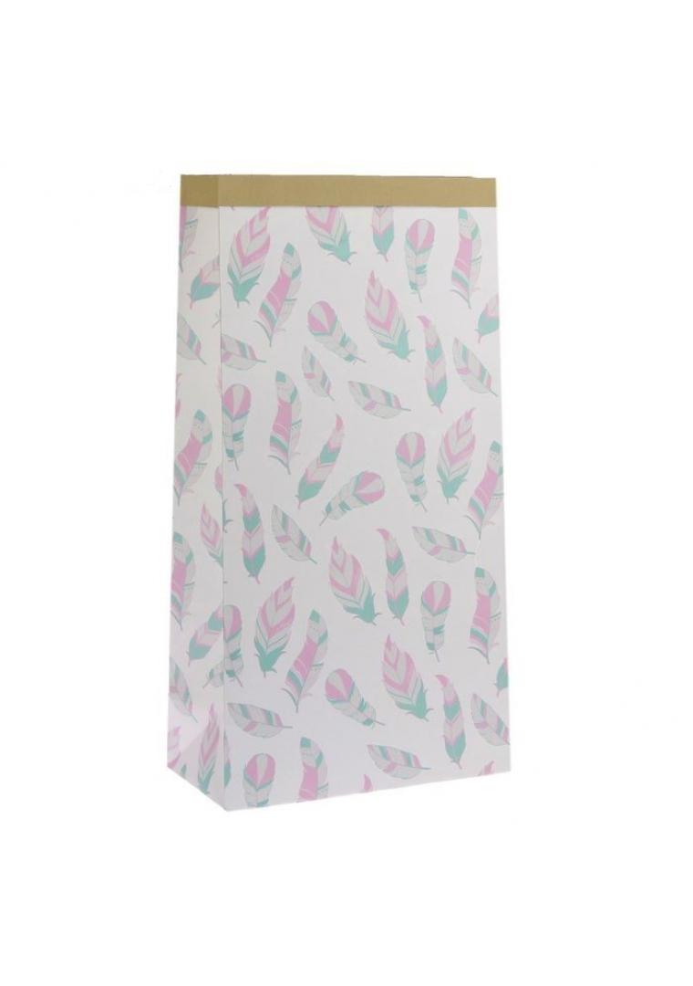 """Эко-мешок для игрушек из крафт бумаги """"Перышки"""""""